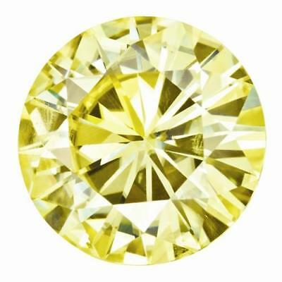 1 Coupe Ronde Brillant Moissanite Chic Jaune 7.5mm Diamètre 1.50 Tw Pierre