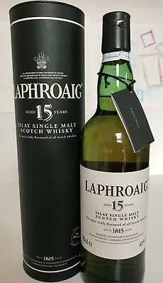 Laphroaig 15 years old alte Flasche 0,7 L in OVP
