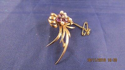 VINTAGE 9ct GOLD BROOCH