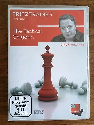 Chessbase Fritztrainer The Tactical Chigorin, Simon Williams, DVD