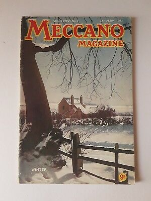Meccano Magazine January 1951 Vintage Collectable