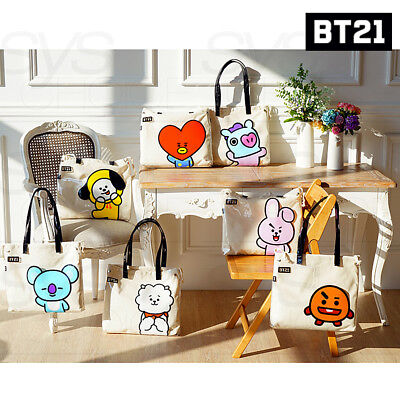 BTS BT21 Official Authentic Goods PVC Shoulder Bag 7Characters By Kumhong Fancy