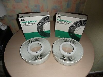 2 X Hanimex La Ronde Rotory Slide Magazines For 120 Slide Transparencies.