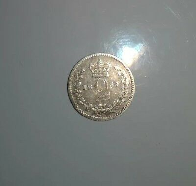 1834 William IV Maundy Silver Twopence. Very Fine Condition.