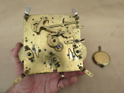 Vintage British Made Westminster Chime Clock Movement And Pendulum Lot1