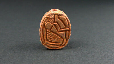 Ancient Scarab Heh God Of Nile Image Egyptian , Late Period, 716-30 Bc