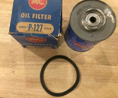 NOS AC #5572129, P-127 Oil Filter Cartridge, 1949-1953 Buick