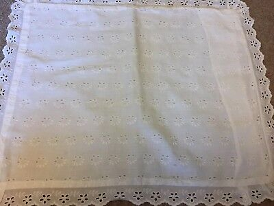 Vintage Cotton Broderie-anglaise Baby Pram Pillow Case