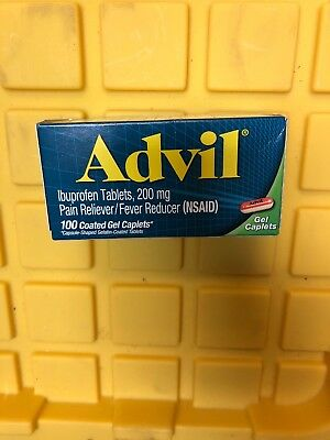 ADVIL GEL CAPLETS 200mg Pain Reliever, Fever Reducer, 100