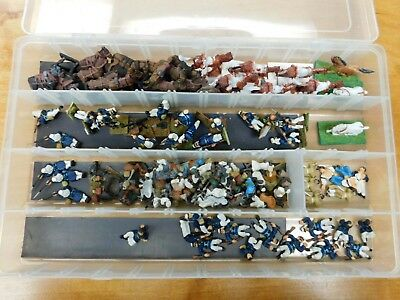 Lot of Painted 28mm Colonial Frech Foreign Legion figures with Horses