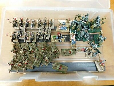 Lot of Painted 28mm Colonial British Cavalry figures on Horses and Camels