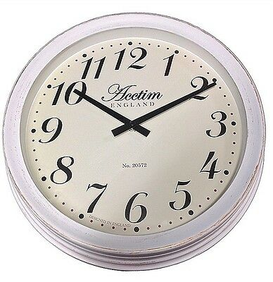 Acctim Appleby White Dial Worn Effect Case Wall Clock 22032