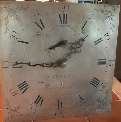 "Antique  "" Wathington "" 30Hr   Longcase / Grandfather Clock Movement/dial Only"