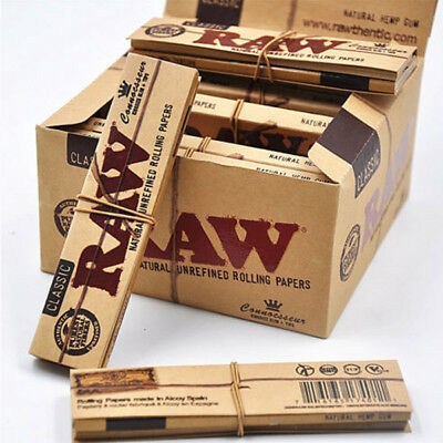 RAW Classic Connoisseur Slim King Size Smoking Rolling Papers with Tips Genuine