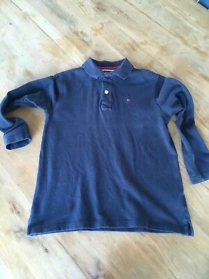 Tommy Hilfiger Blaues Polo Langarmshirt in Gr. 110