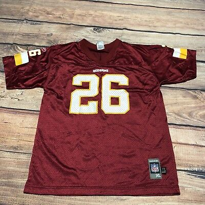 Reebok NFL Washington Redskins  26 Clinton Portis Throwback Football Jersey  KIDS 5ed4cfc61
