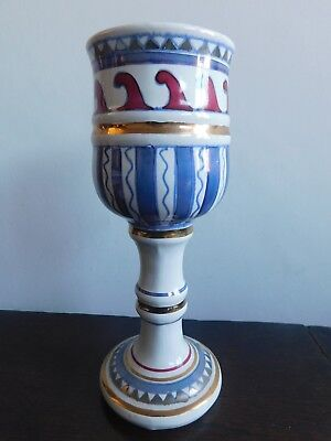 Magnificent gilded goblet made by David Sharp of Rye.