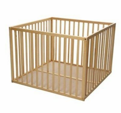 Kiddicare solid wood playpen in excellent used condition.