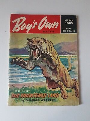 Boy's Own Paper March 1963, Vintage Magazine, Collectable, Gift for Dad, Grandad