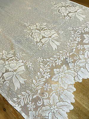 French Vintage Lace Embroidered Polycotton Panel