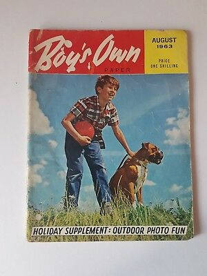 Boy's Own Paper August 1963, Vintage Magazine, Collectable,Gift for Dad, Grandad