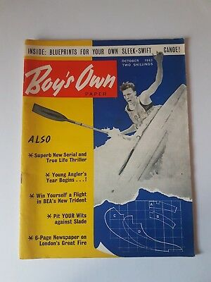 Boy's Own Paper October 1963,Vintage Magazine,Collectable,Gift for Dad,Grandad