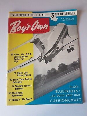 Boy's Own Paper November 1963,Vintage Magazine,Collectable,Gift for Dad,Grandad