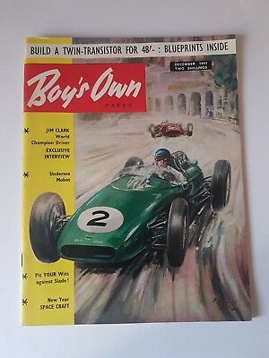 Boy's Own Paper December 1963,Vintage Magazine,Collectable,Gift for Dad,Grandad