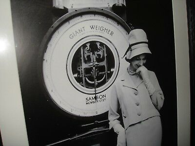 Vintage Large picture of women in front of scales