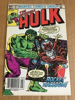 The Incredible Hulk #271 First Appearance Of Rocket Raccoon (May 1982, Marvel)