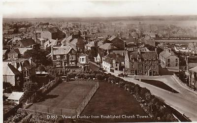 View Dunbar from Established Church Tower unused  RP pc  E T W Dennis