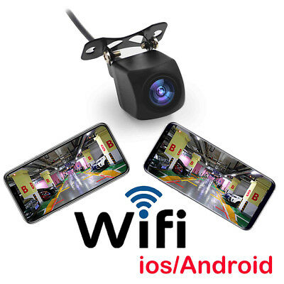 150° Rear View Camera Car WiFi Wireless HD Backup For phone Night Vision O1D5R