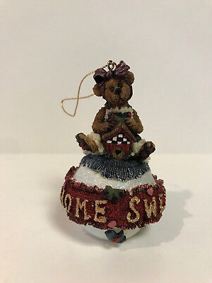 Boyds Bears 1998 Christmas Ornament Retired Bailey Home Sweet Home In Box