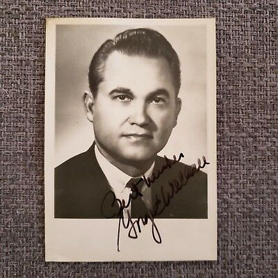 "George Wallace 3-1/2"" x 5"" Autographed Photo - Alabama Governor / Politician"