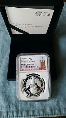 2019 Queen's beasts Falcon 1oz silver proof NGC PF70 UC FIRST RELEASES