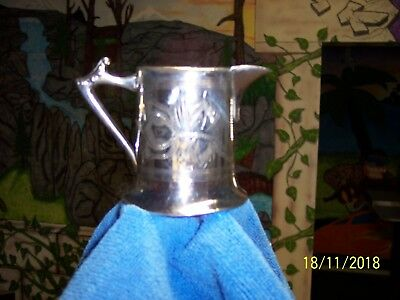 ANTIQUE SILVER PLATED  CREAMER  W.G. Co.