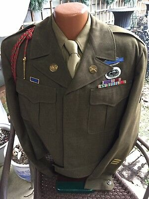 WWII US 82nd Airborne Uniform Jacket, Shirt, Cap And Tie