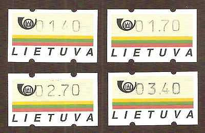 Lithuania 1990 series Automat / Vending Machine stamps, complete set ... MNH **