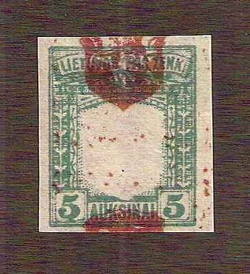 "Lithuania 1919 ""Fourth Berlin"" 5auk imperf with shifted center shield ... MH *"