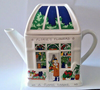 WADE Novelty FLORIE'S FLOWERS TEAPOT Barry Smith & Barbara Wootton ENGLISH LIFE