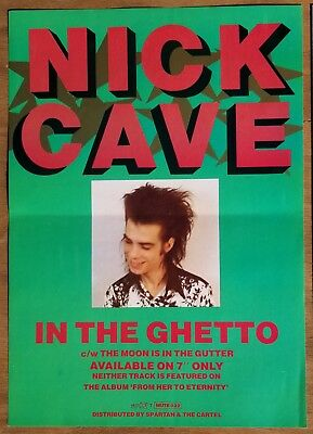 NICK CAVE AND THE BAD SEEDS - IN THE GHETTO - ORIGINAL Promo Poster MUTE RECORDS