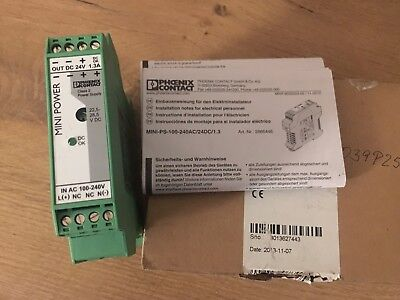 Phoenix Contact 2866446 power supply Netzteil MINI-PS-100-240AC/24DC/1 Used UMP