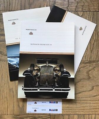 Maybach Launch Brochure 2002 & Maybach Moments 01 magazine in German and English