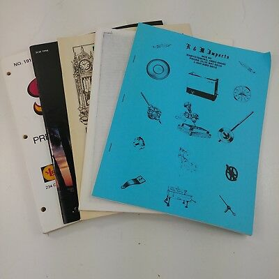 rd Lot of Vintage Clock Making Parts Tools Retail Catalogs Brochures Order Books
