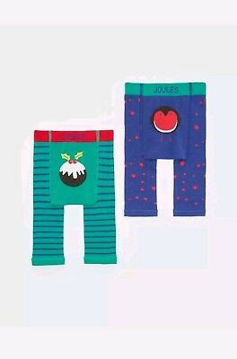 Joules Baby Christmas Leggings 0-6 Months,new,bottoms.0-3,3-6,2 Pack
