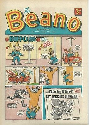 Beano Comics. January 1968. Good Condition. January 13th & 27th 1968.