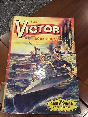 victor book for boys- the commandos at singapore