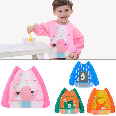 Sleeve Apron Gown Waterproof EVA Bibs Baby Clothing Feeding Smock Burp Cloths