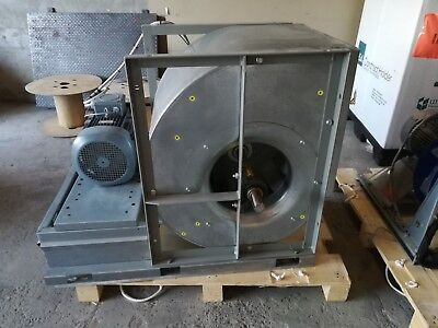 Industrial Driven Centrifugal  Fan 7.5KW 2900rpm 90000 m3/hr 3500 PA