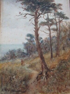 Frederick James Knowles, Mother And Child On Hill, Watercolour, Signed